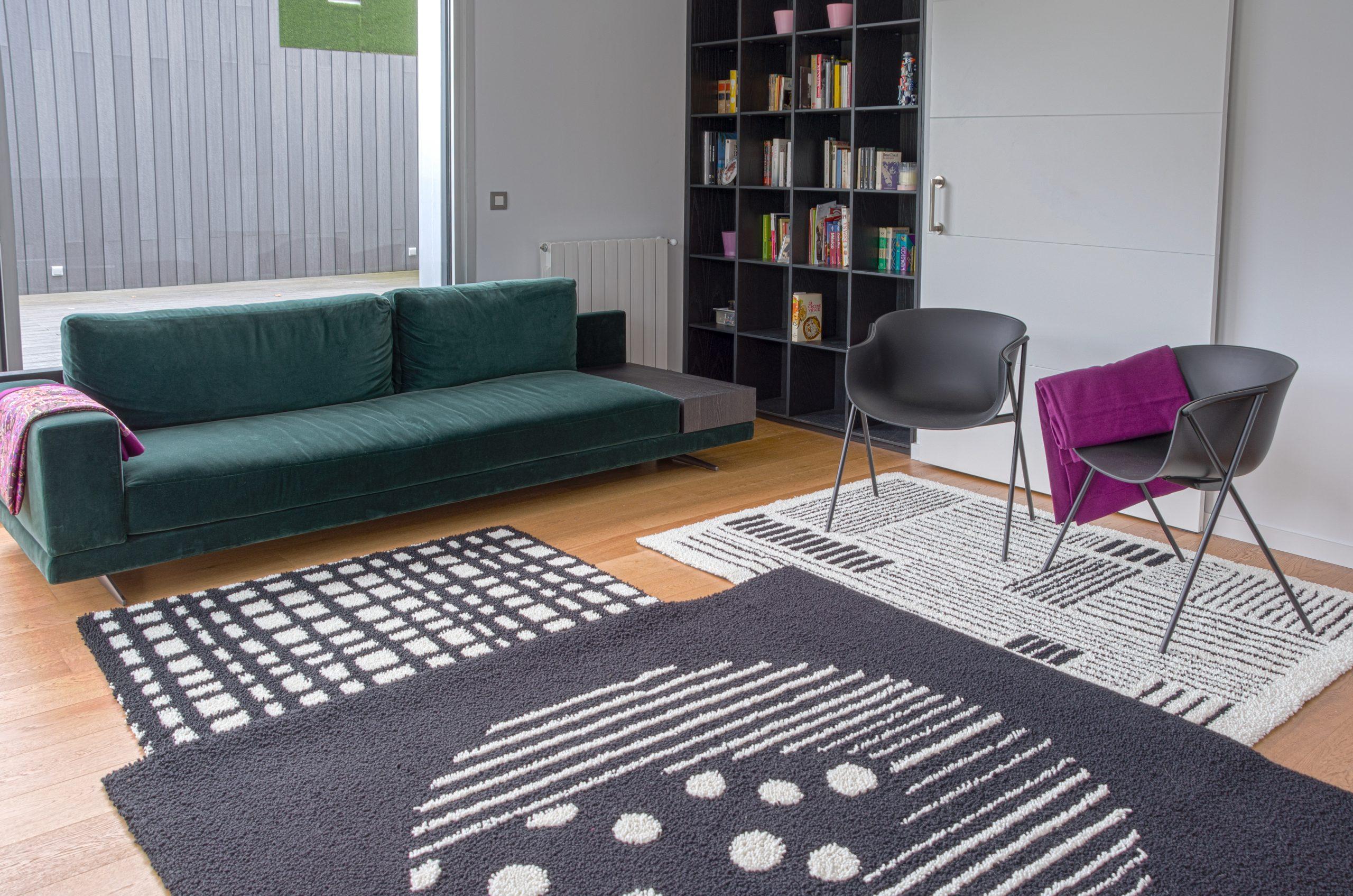 alfombras superpuestas para salon