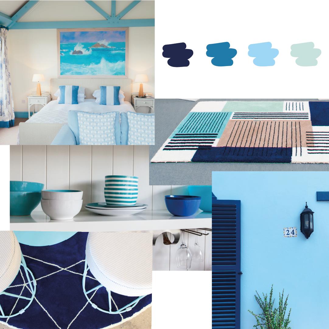 decoración veraniega azul